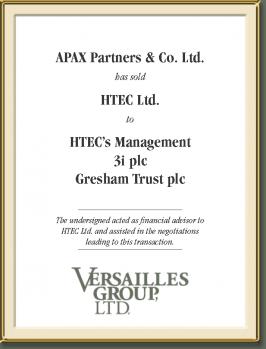 HTEC's Management, 3i plc, Gresham Trust plc